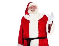 De Kerstman heet u welkom stock fotografie