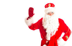 De Kerstman heet u welkom Royalty-vrije Stock Afbeelding