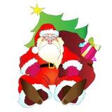 De Kerstman, hristmas, nieuw jaar, achtergrond Royalty-vrije Stock Foto's