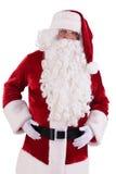 De Kerstman isoleerde Stock Fotografie