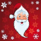 De Kerstman - Kerstkaart Stock Afbeeldingen