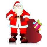De Kerstman, Kerstmisachtergrond Royalty-vrije Stock Fotografie