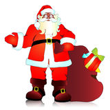 De Kerstman, Kerstmisachtergrond Stock Fotografie