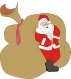 De kerstman Klaus heeft een rust Stock Foto