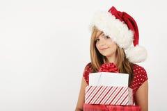 De kerstman komt royalty-vrije stock fotografie