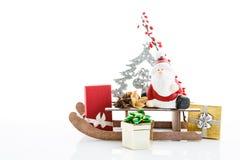 De kerstman komt Stock Afbeelding
