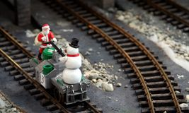 De kerstman komt Stock Fotografie