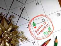 De kerstman komt Stock Foto