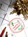 De kerstman komt Royalty-vrije Stock Afbeeldingen