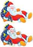 De Kerstman is lichtjes gedronken Stock Fotografie