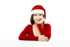 De kerstman maakt een presentatie royalty-vrije stock foto