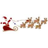 De Kerstman met deers Stock Afbeelding