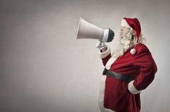 De Kerstman met een bericht Stock Foto's