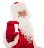 De Kerstman met een geneeskunde Stock Fotografie