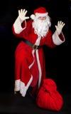 De Kerstman met een zak royalty-vrije stock foto's
