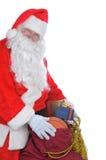 De Kerstman met een Zak van stelt voor Royalty-vrije Stock Foto