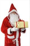 De Kerstman met gift stock foto