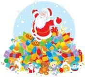 De Kerstman met giften Stock Foto's
