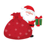De Kerstman met giften Stock Afbeelding
