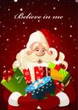De Kerstman met giften Royalty-vrije Stock Foto's