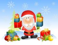 De Kerstman met Giften Royalty-vrije Stock Afbeelding