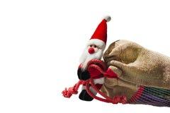 De Kerstman met grote zak Royalty-vrije Stock Foto's