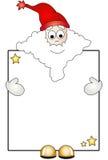 De Kerstman met kaart stock illustratie
