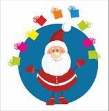 De Kerstman met Kerstmis stelt voor Stock Afbeeldingen