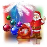 De Kerstman met Kerstmisgiften Royalty-vrije Stock Afbeelding