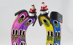 De Kerstman met poppenhuis Royalty-vrije Stock Foto's