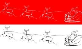 De Kerstman met rendieren Stock Foto