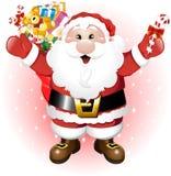 De Kerstman met Speelgoed royalty-vrije illustratie