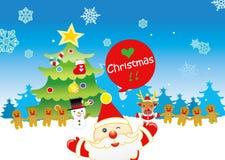 De Kerstman met vrienden Royalty-vrije Stock Afbeelding