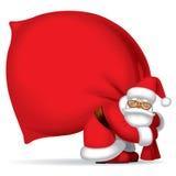 De Kerstman met zak Stock Afbeelding