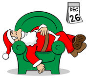 De Kerstman na het werk Stock Afbeeldingen