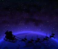 De Kerstman op de aarde vector illustratie