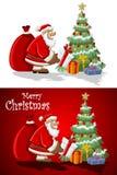 De Kerstman op de Tijd van Kerstmis Royalty-vrije Stock Afbeelding