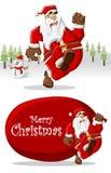 De Kerstman op de Tijd van Kerstmis Stock Fotografie