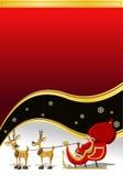De Kerstman op de tijd van Kerstmis Stock Afbeeldingen