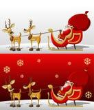 De Kerstman op de tijd van Kerstmis Stock Foto