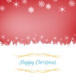 De Kerstman op een slee Stock Foto's