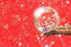 De Kerstman op een slee Stock Afbeelding