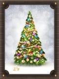 De Kerstman op een slee Eps 10 Royalty-vrije Stock Fotografie
