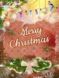 De Kerstman op een slee Eps 10 Stock Afbeelding