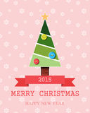 De Kerstman op een slee Het vrolijke van letters voorzien van Kerstmis Royalty-vrije Stock Foto's