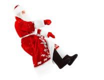 De Kerstman op onzichtbare auto royalty-vrije stock afbeeldingen