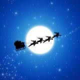 De Kerstman op Slee royalty-vrije stock afbeeldingen