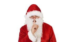 De Kerstman op wit met weg Royalty-vrije Stock Afbeelding