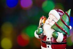 De Kerstman, Ornament verfraait Vrolijke Kerstmis en gelukkig nieuw jaar Stock Fotografie