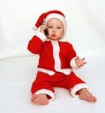 De Kerstman roept Stock Afbeelding